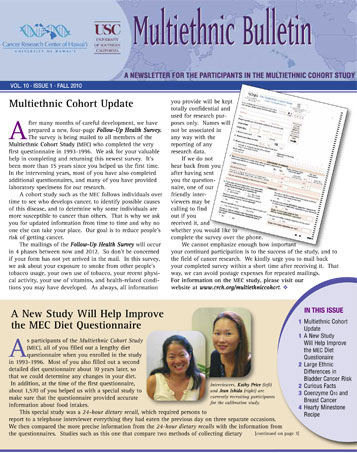 MEC Fall 2010 newsletter