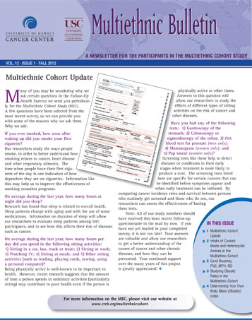 MEC Fall 2012 newsletter