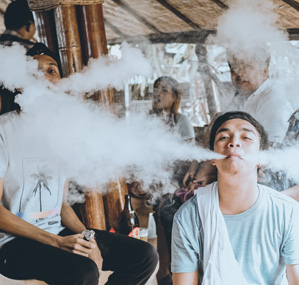 young adolescents using electronic cigarettes